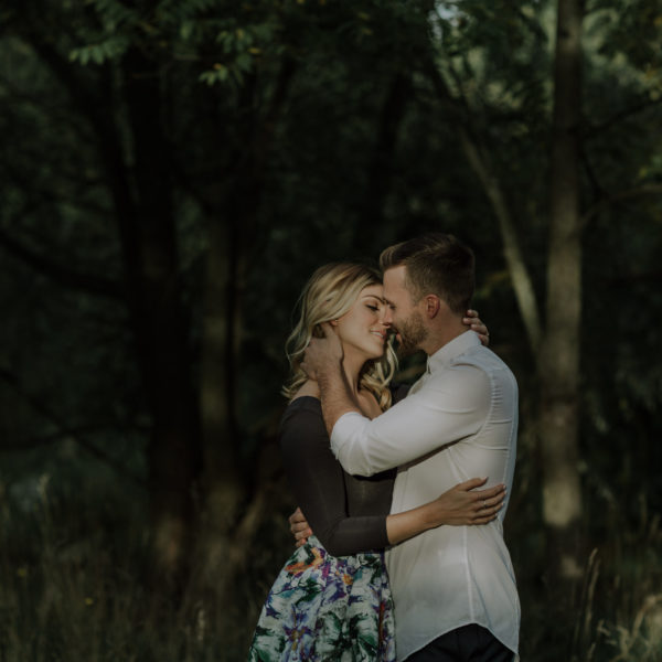 Intimate Hamilton Waterfall Engagement Session
