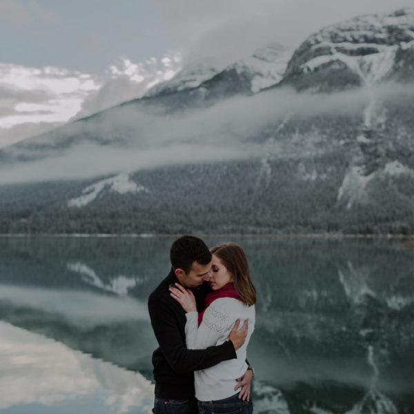 A Fall Canmore Engagement Session at Spray Lakes