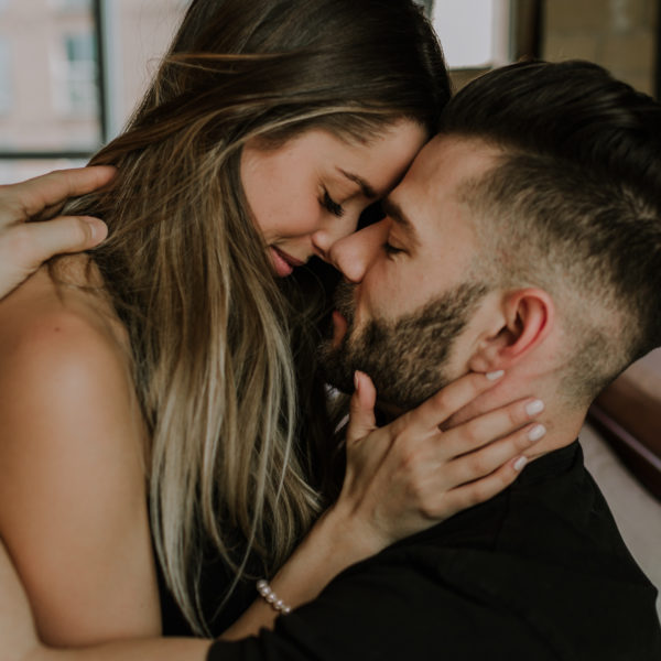Intimate Toronto In Home Cuddle Engagement Session
