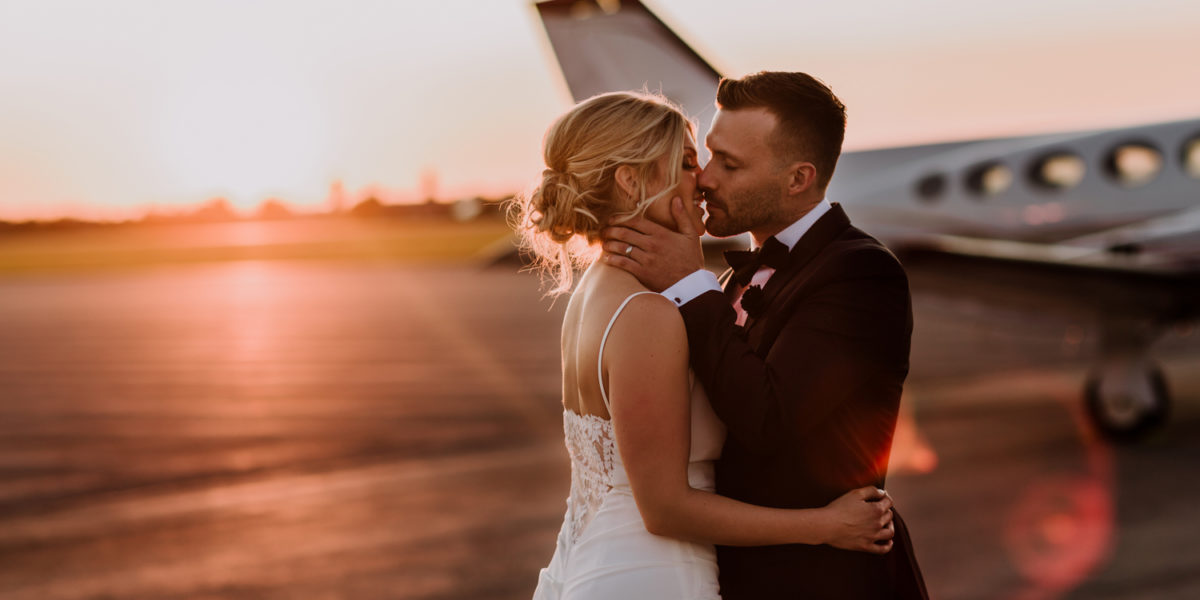 Airport Hangar Wedding in Niagara-On-The-Lake