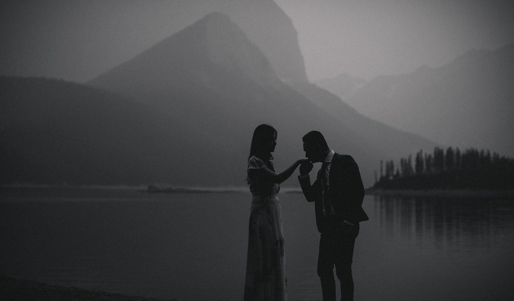 A Fiery Haze Mountain Engagement in Kananaskis Alberta